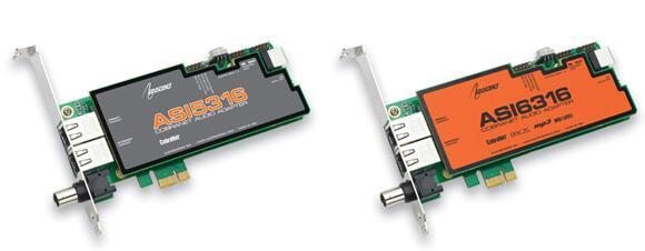 ASI5308,ASI5316,ASI6316 PCIe 声卡
