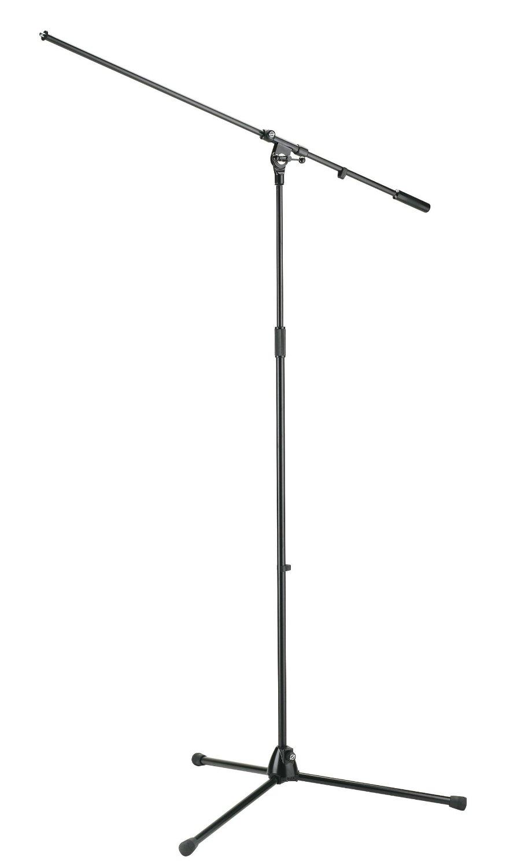 K&M 21021 黑色落地式话筒支架