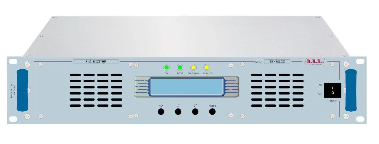RVR TEX30LCD/S 30W调频发射机
